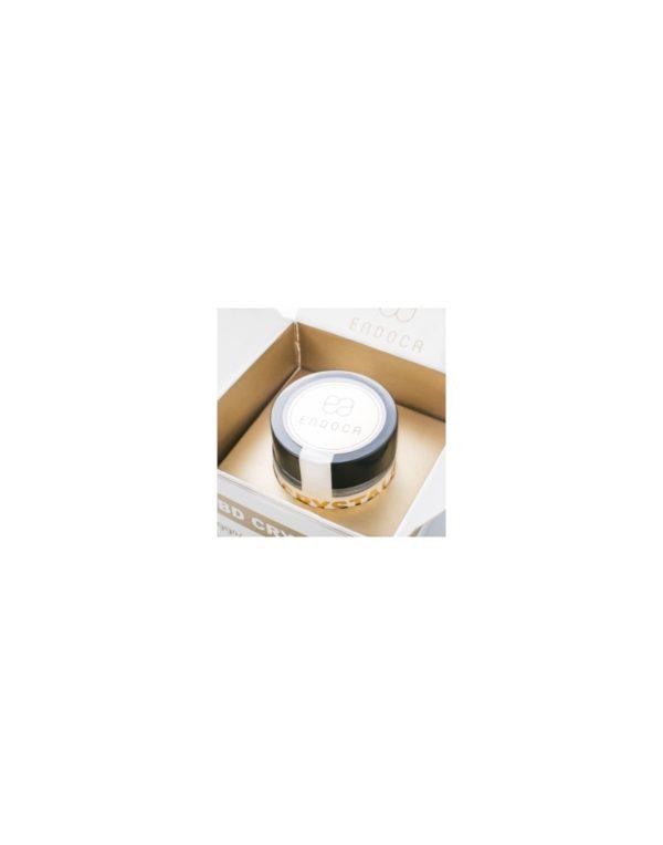 Endoca Κρύσταλλοι Κάνναβης 98% CBD - 500mg λεπτομέρεια κρυστάλλων και συσκευασίας