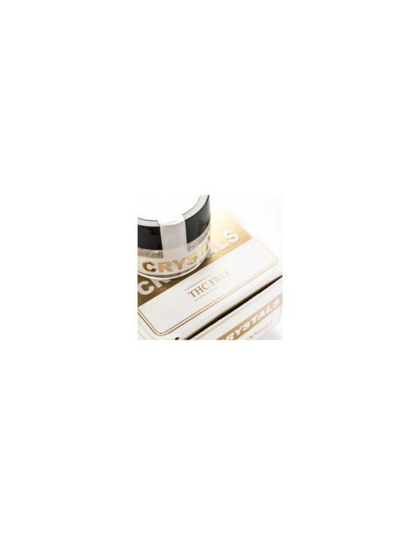 Endoca Κρύσταλλοι Κάνναβης 98% CBD - 500mg λεπτομέρεια κρυστάλλων και συσκευασίας δεξιά πλευρά