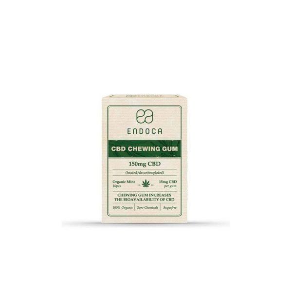 CBD Chewing Gum Endoca 150mg | 15mg per Gum - 10pcs