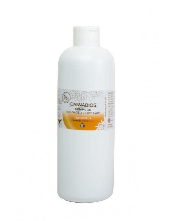 Λάδι για μασάζ με Κανναβιδιόλη CBD | Lemon - 500ml