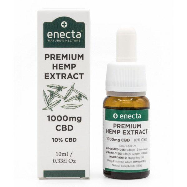 Enecta 10% CBD Έλαιο Κάνναβης (1000mg) - 10ml Βιολογικό συσκευασία