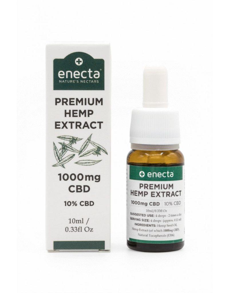 Enecta 10% CBD Cannabis Hemp Oil (1000mg) - 10ml Bio Packaging