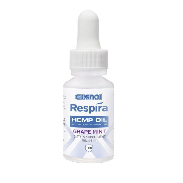 Respira Hemp Oil 300mg – Grape Mint Flavor CBD Oil 30ml