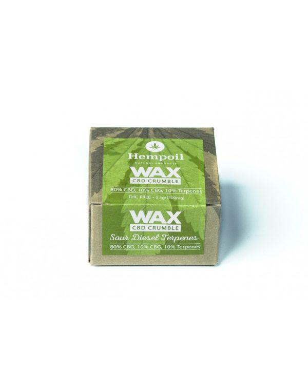 Wax CBD & CBG Crumble | Sour Diesel Terpenes - 500mg