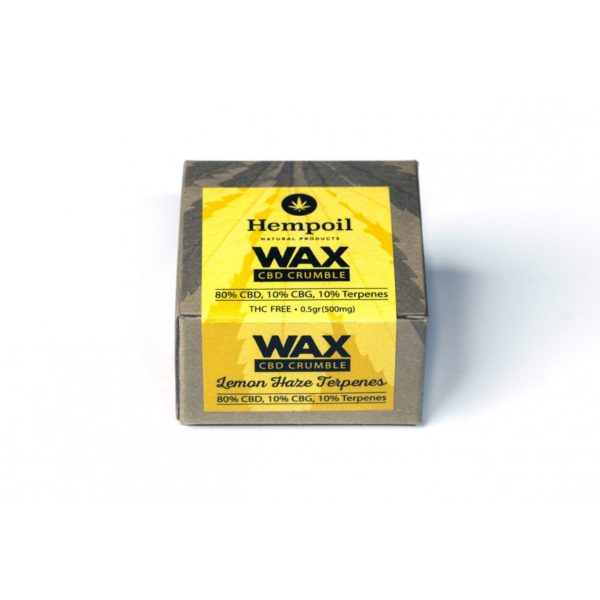 Wax CBD & CBG Crumble | Lemon Haze Terpenes - 500mg