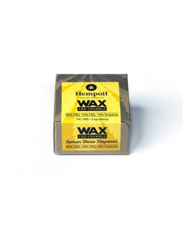 Wax CBD & CBG Crumble | Lemon Haze Terpenes - 500mg
