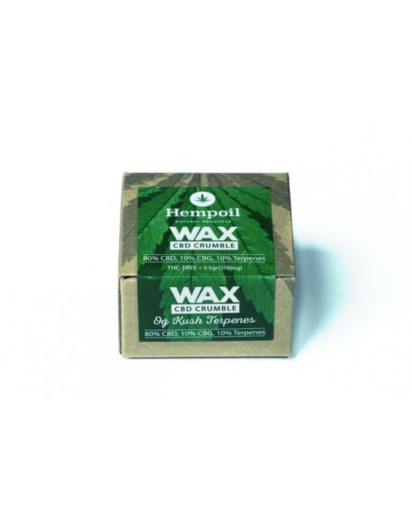 Wax CBD & CBG Crumble | Og Kush Terpenes - 500mg