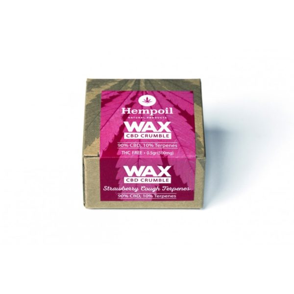Wax CBD Cannabidiol Crumble - Strawberry Cough Terpenes