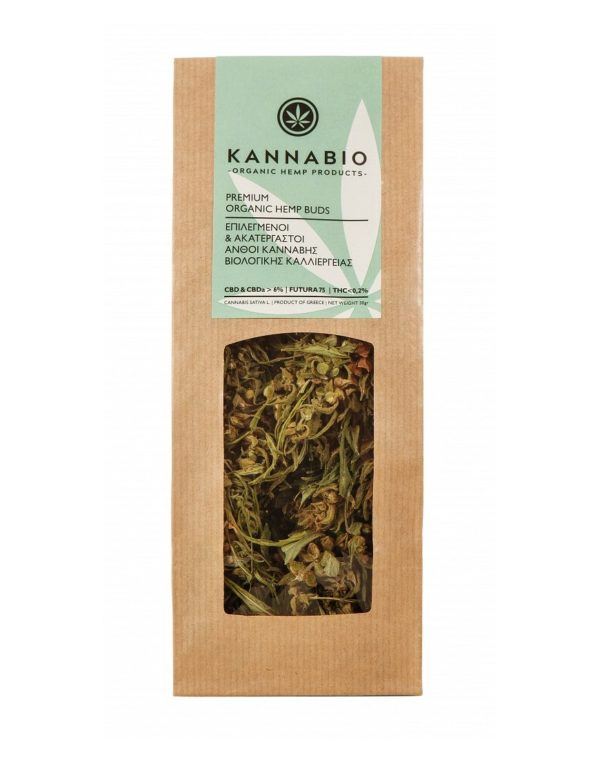 Raw Organic Hemp Flowers Kannabio - 30g