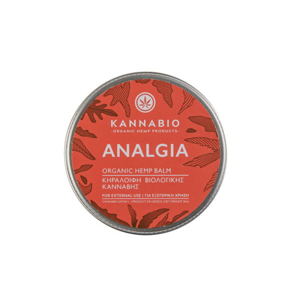 Beeswax Kannabio | Analgia Hemp Balm - 30ml top view.