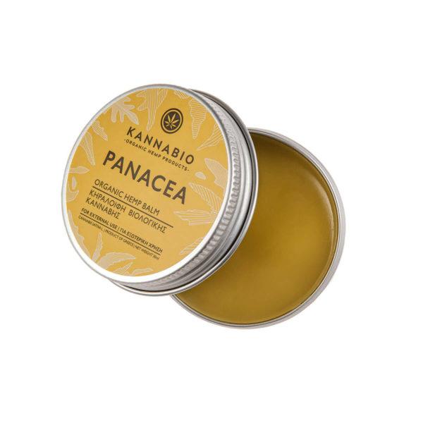 Kannabio κεραλοιφή panacea οργανικό προϊόν - Συσκευασία ανοιχτή