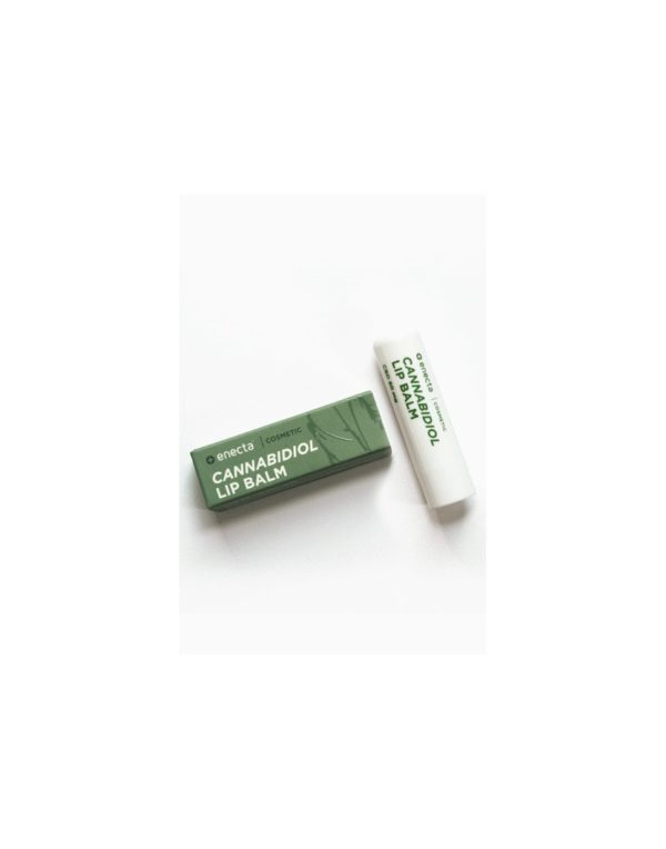 Enecta Lip Balm with CBD Cannabidiol - 50mg packaging and container. Cannabis Premium Cosmetic