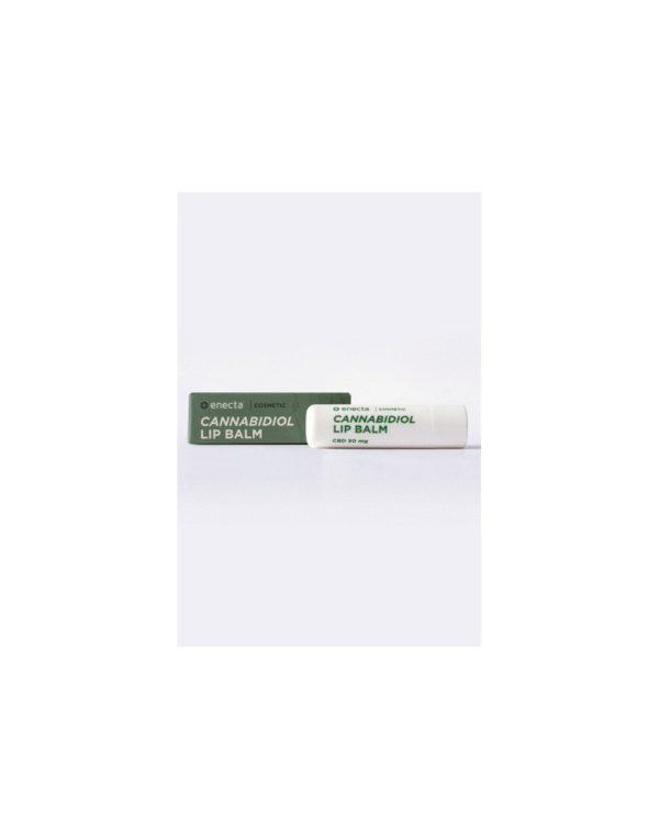 Enecta CBD Balm για τα Χείλη - 50mg εσωτερική και εξωτερική συσκευασία, καλλυντικό κάνναβης με κανναβιδιόλη