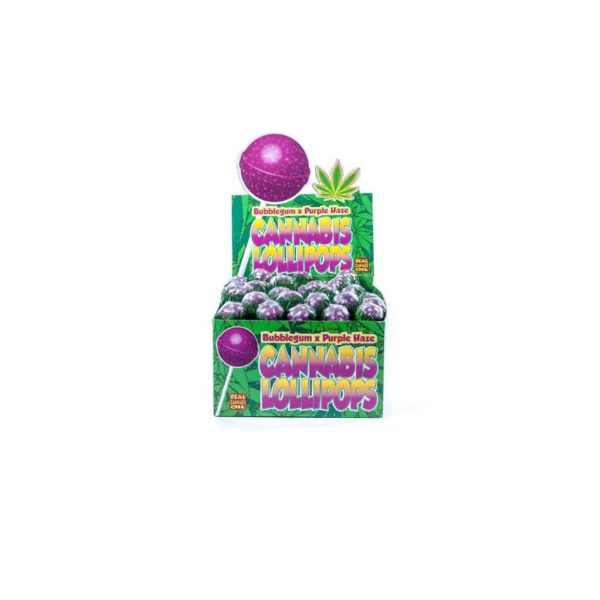 CANNABIS LOLLIPOPS BUBBLEGUM X PURPLE HAZE