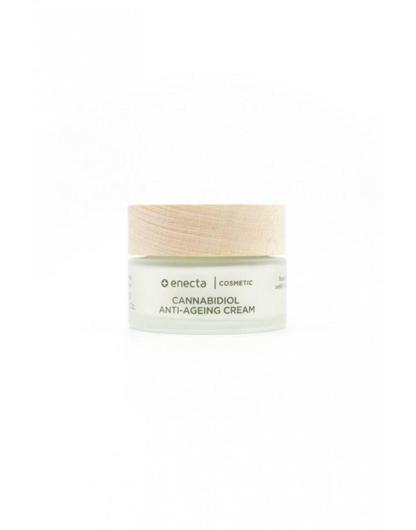 Cannabidiol Anti-Ageing Cream Αντιρυτιδική Κρέμα με Κανναβιδιόλη CBD 700mg σε βαζάκι 50ml, εσωτερικό βαζάκι.