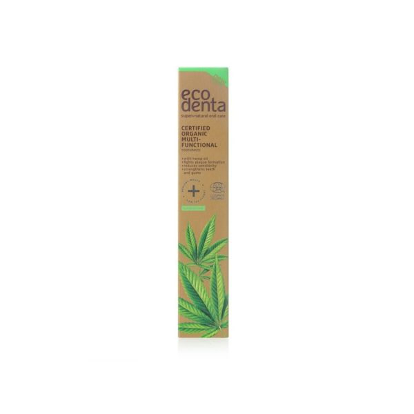 Organic Toothpaste with Cannabis Oil, Matcha Tea, Aloe Vera and Mint