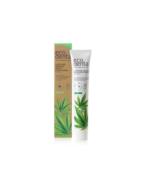 Organic Toothpaste with Cannabis Oil, Matcha Tea, Aloe Vera and Mint