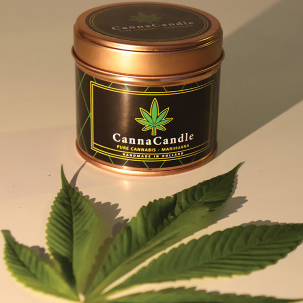 Cannacandle cannabis candle with cannabis scent
