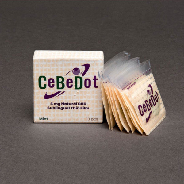 cbd siblingual thin film mint flavour