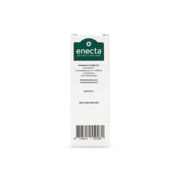 Hempoil from enecta brand bottle, back side, 30ml - 3000mg