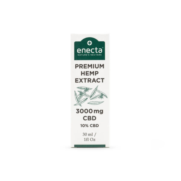 Hempoil from enecta brand bottle 30ml front side - 3000mg