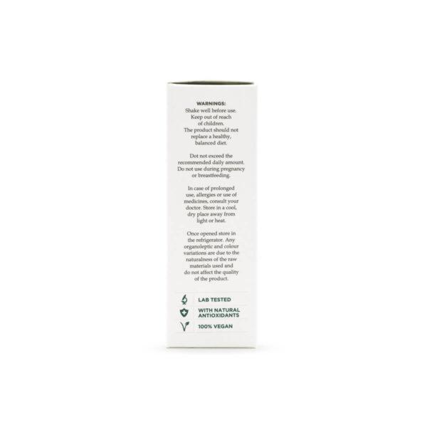 Hempoil from enecta brand bottle, left side, 30ml - 3000mg