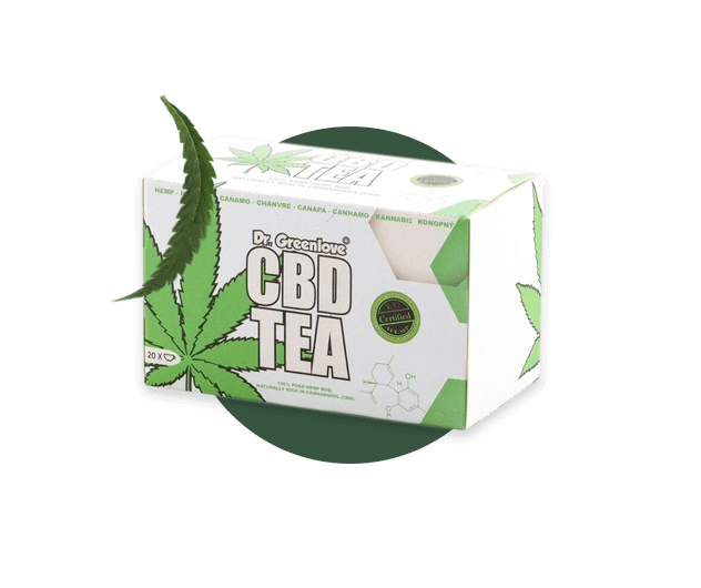 CBD Tea packaging from dr.greenlove