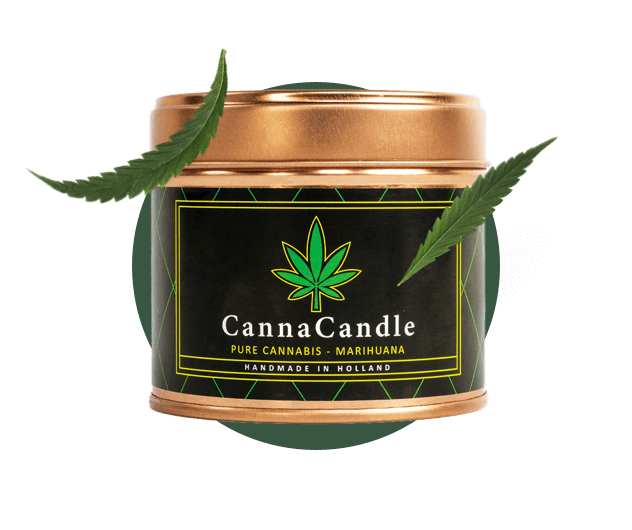 Cannabis candle at hempoilshop.gr