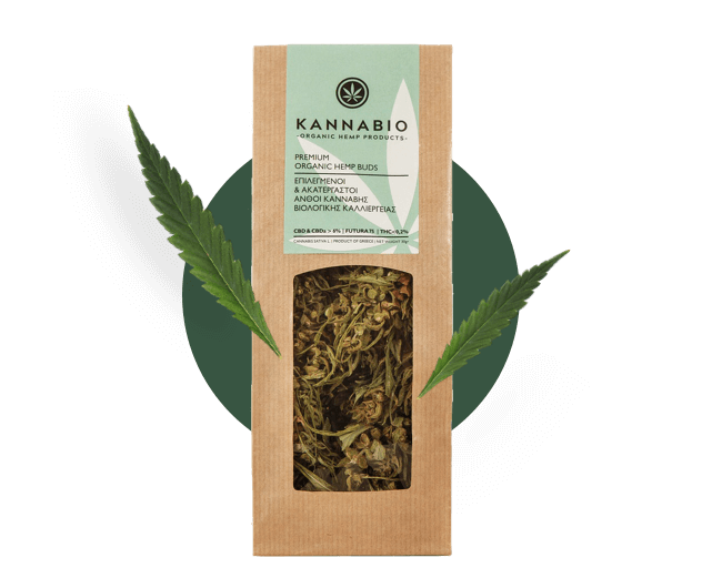 raw hemp buds packaging kannabio