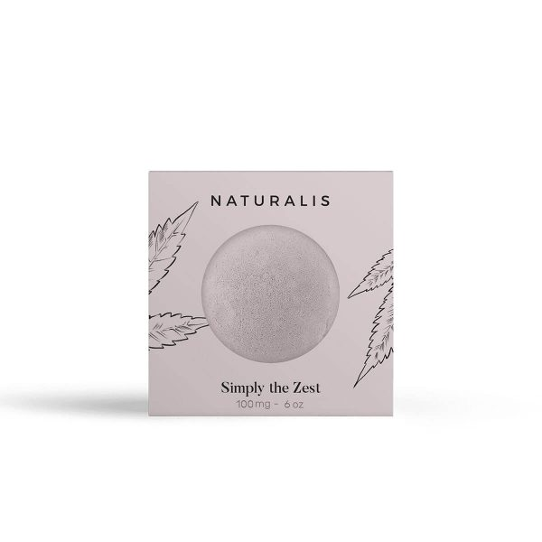CBD Bath Βombs | Simply the Zest - 100mg with cannabidiol and epsom salts from naturalis london. Uplift your bath experience.