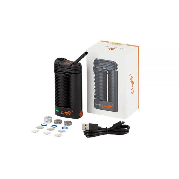 Vaporizer Crafty+ from Storz and Bickel Germany with usb cable and other peripherals
