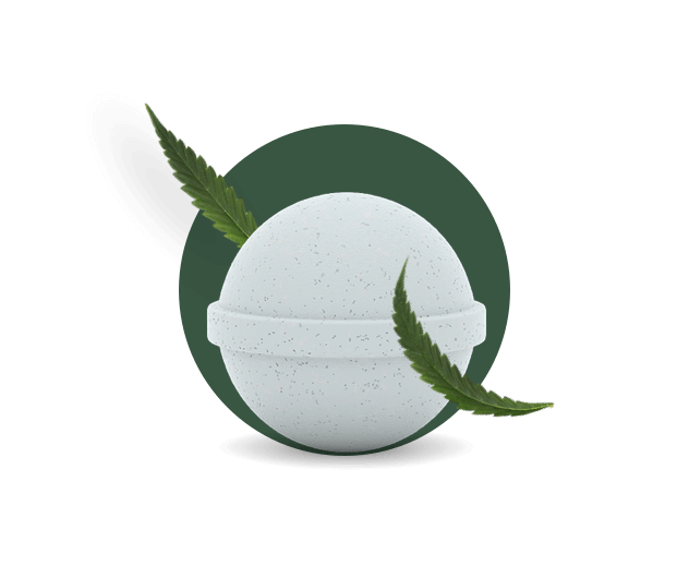 CBD Bath Bombs with 100mg cannabidiol hero image
