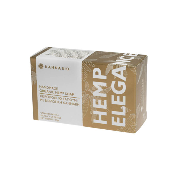 Organic cannabis soap, handmade by Kannabio Brand, elegance.