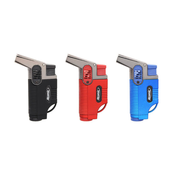 Atomic Lighter Windproof Turbo Jet Flame for Cigars, Twist Hemp Cigarettes, Hookahs