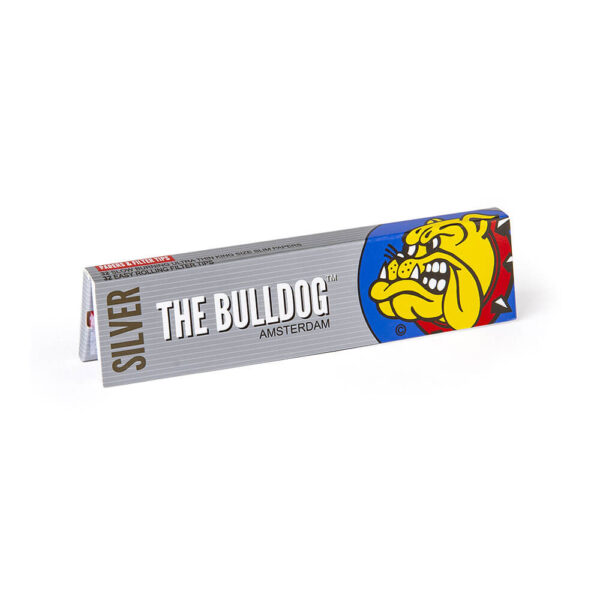 The Bulldog Amsterdam King Size Slim Papers Silver & TIPS with Filter Tips 33 sheets for twisted hemp cigarettes.