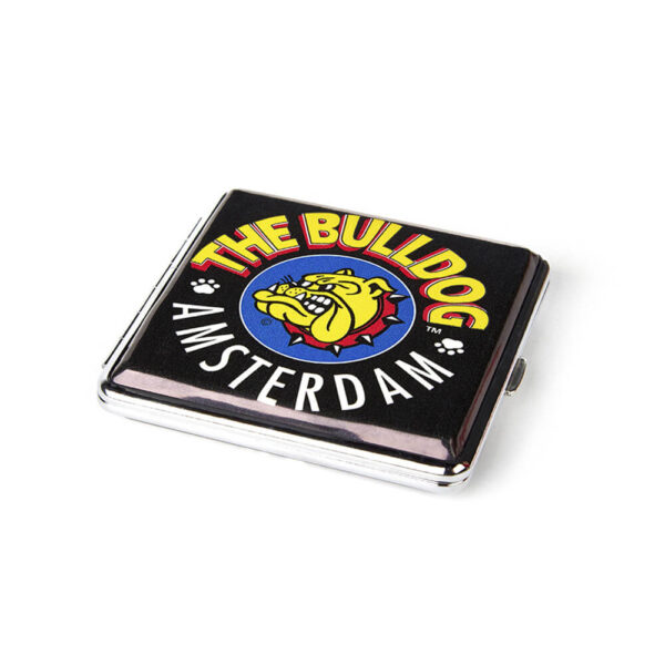 The Bulldog Amsterdam Metalic Cigarette Case for storing of twisted cigarettes.