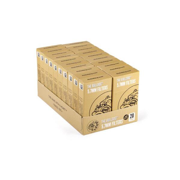 The Bulldog Amsterdam Filter Pop A Tip Eco Bio 5.7mm 20τεμάχια συσκευσία για στριφτό τσιγάρο.