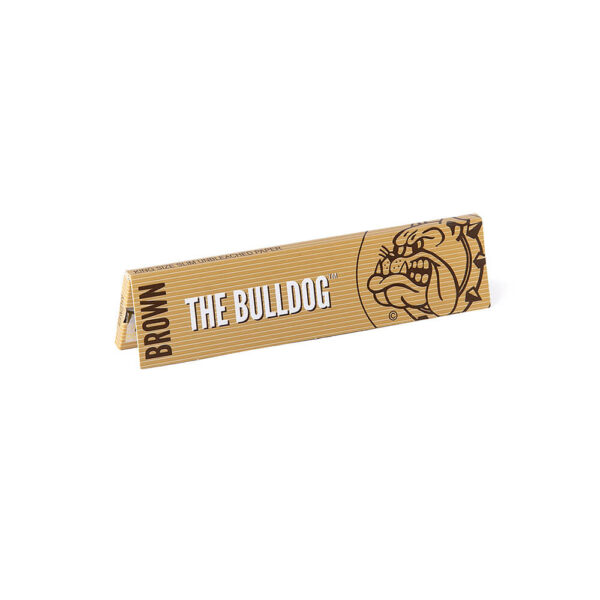The Bulldog Amsterdam King Size Papers Brown Unbleached Raw 33 sheets for twisted cigarettes.