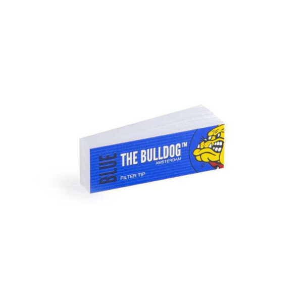The Bulldog Amsterdam Blue Filter Tips Perforated – 1pcs for hemp cigarette rolling.