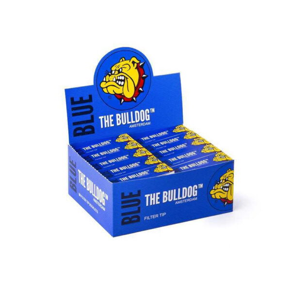 The Bulldog Amsterdam Filter Tips Blue Perforated 50pcs online wholesale and retail.