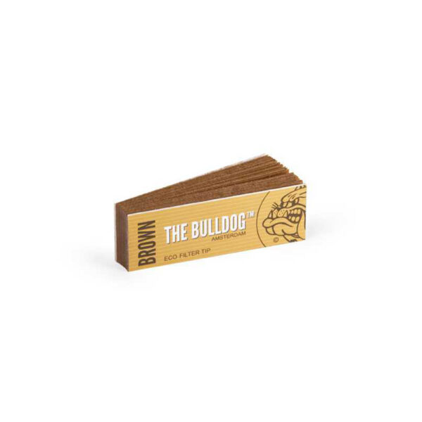 The Bulldog Amsterdam Filter Tip Eco Brown Filter Tips for easy cigarette rolling.