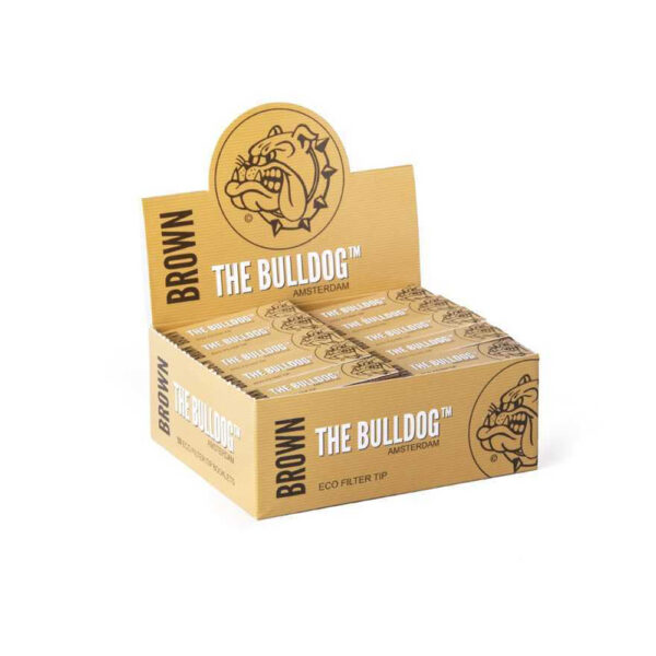 The Bulldog Amsterdam Eco Brown Filter Tips – 50pcs online wholesale for twisted hemp cigarettes.