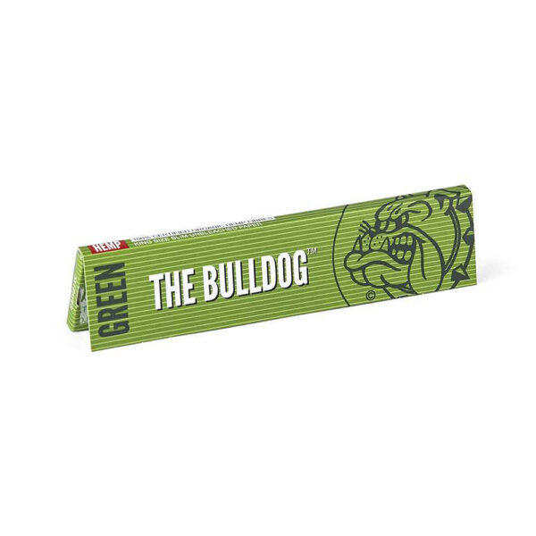 The Bulldog Amsterdam King Size Slim Papers Green Hemp Raw 33 sheets for twisted hemp cigarettes.