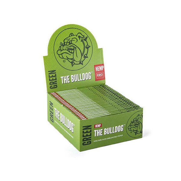 The Bulldog Amsterdam King Size Slim Papers Green Hemp The Bulldog Amsterdam King Size Slim Papers Green Hemp Raw 33 sheets - 50 pcs for twisted hemp flower cigarette wholesale and reatail
