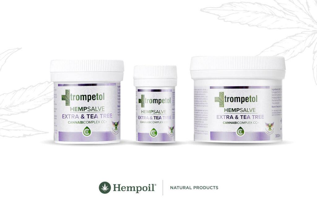 Trompetol Extra Αλοιφή κάνναβης με CBD, τεϊόδεντρο και δεντρολίβανο για δερματικές παθήσεις και ψωρίαση.