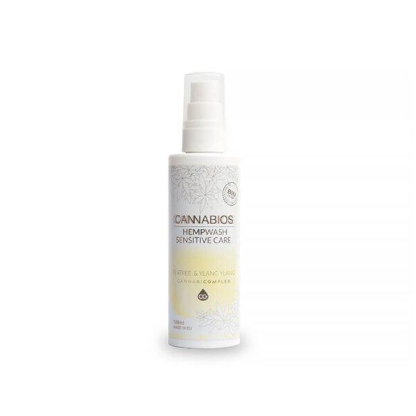 HempWash Spray Sensitive Care CBD Σαμπουάν - Αφρόλουτρο & Ευαίσθητη Περιοχή 2 σε 1 (Teatree+YlangYlan) - 100ml - προϊόν