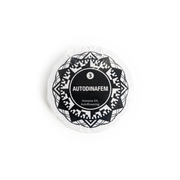 Dinafem | Αυτόματοι Σπόροι Κάνναβης - Amnesia XXL Auto - 3 τεμάχια φωτογραφία συσκευασίας προϊόντος.