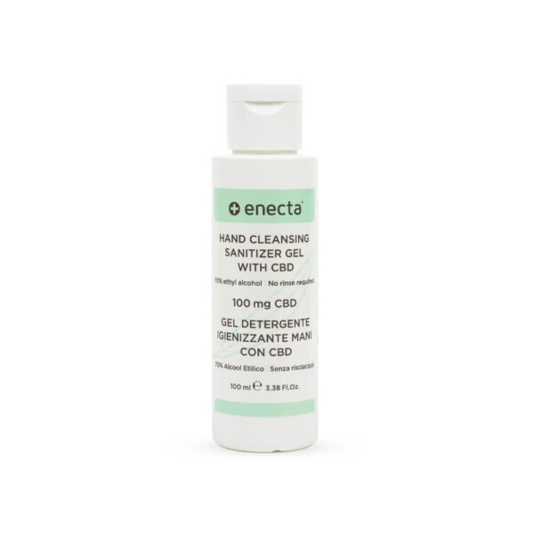 Enecta Hand Sanitiser Gel with 100mg CBD - 100ml - product photo