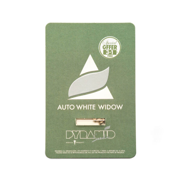 Pyramid Seeds | Autoflowering Cannabis Seeds – Auto White Widow – 3+1pcs - packaging photo