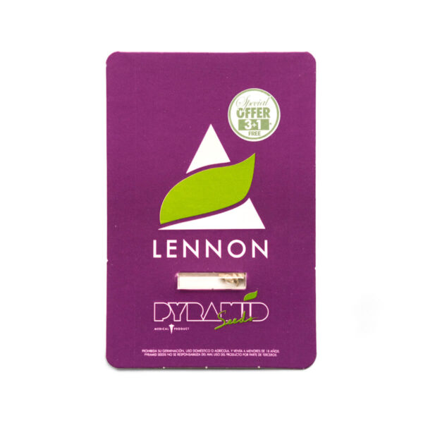 Pyramid Seeds | Feminized Cannabis Seeds – Lennon – 3+1pcs - packaging photo